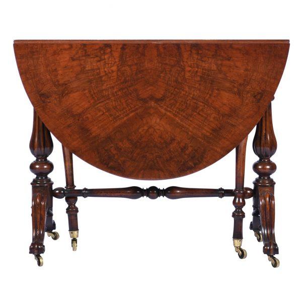 Antique Burr Walnut Sutherland Table England 1870's