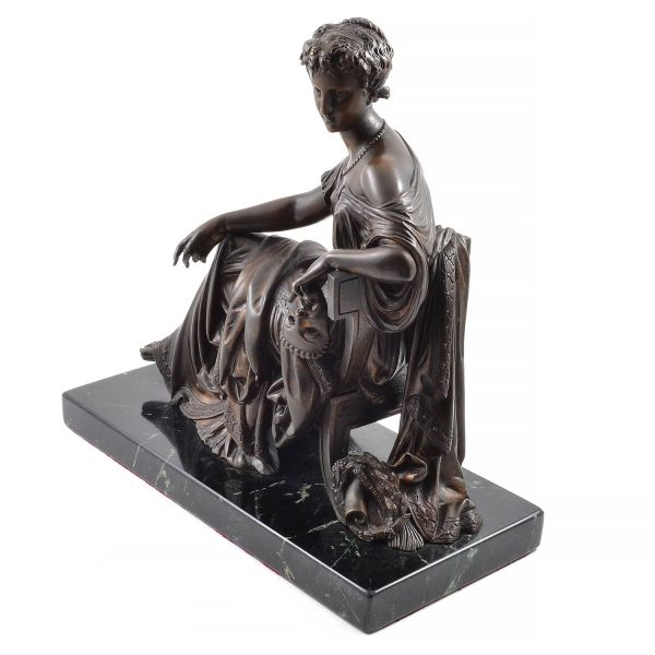 "Bronze Sculpture ""Mask of Tragedy"" by Leon Pilet 1910. France 1839-1916"