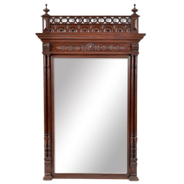 19TH Century. French HENRY II Style Beveled Mirror