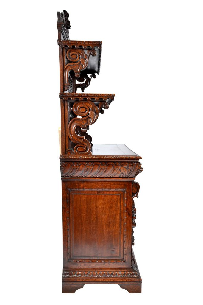 Antique Buffet, Sideboard, Server, Chiffonier, Renaissance - Henry II Style, Black Forest France 19th Century