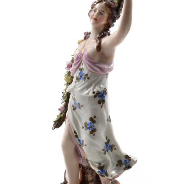 Royal Vienna Porcelain Figurine of a Young Woman. Antique Royal Vienna Porcelain Austria 18th 19th century