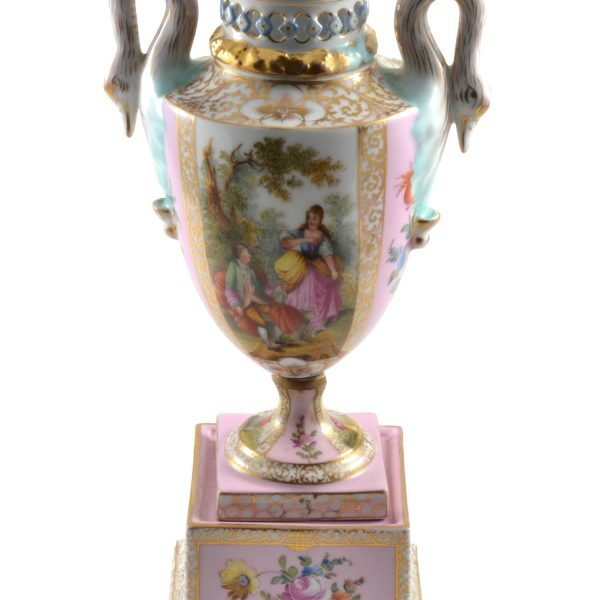 Royal Vienna Porcelain Covered Urn 1883 to 1906