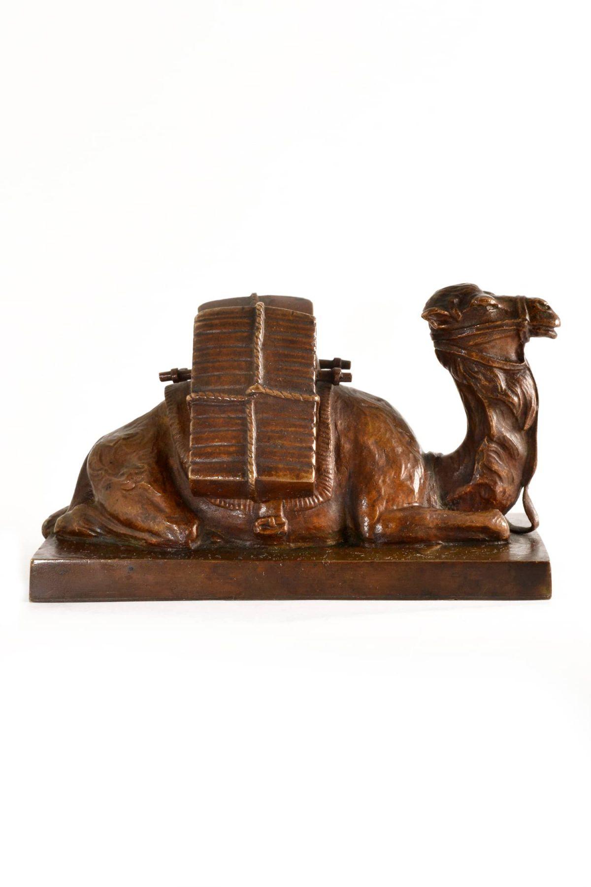 Friedrich Gornik (Austrian, 1877-1943) Bronze Sculpture. Seated Camel. 1923