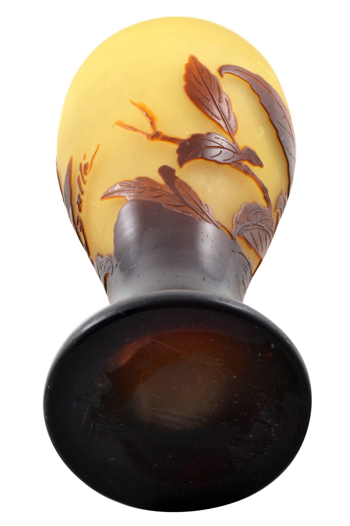 Galle Cameo Art Glass Vase. Signed Galle. Circa 1900.