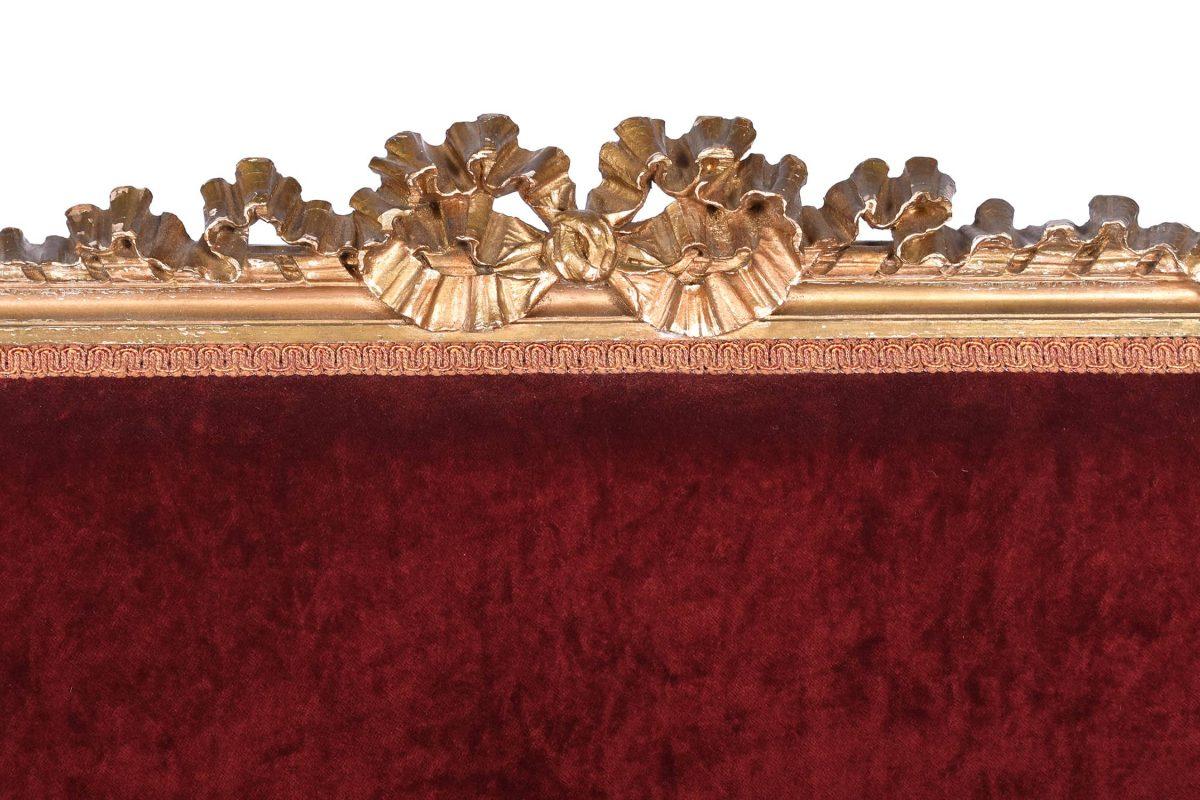 Louis XVI Style Gilt Wood Sofa Settee French 19th Century