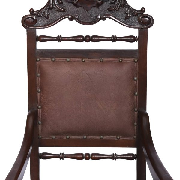 Antiques Pair Armchairs Spanish Colonial Spain 19th/20th Century