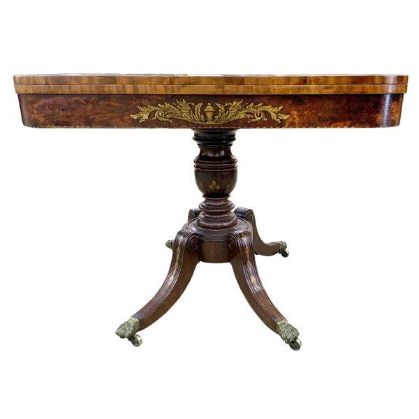 Antique Game Table Baltimore -Philadelphia Region C.A. 1805