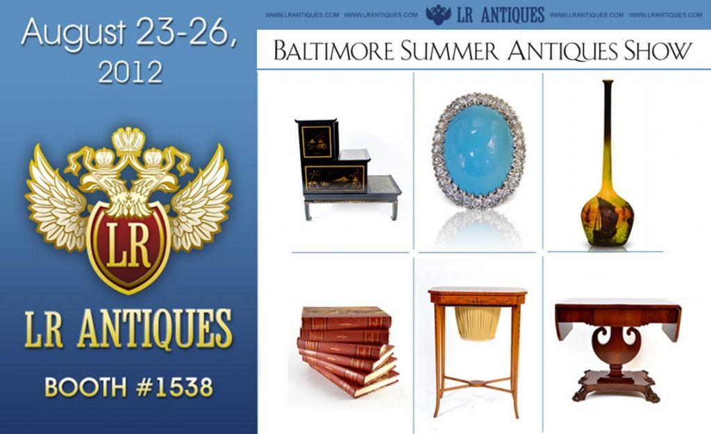 LR Antiques at Baltimore Summer Antiques Show