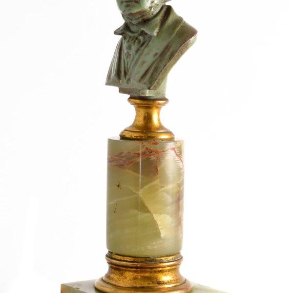 Bronze Bust E.Boermel By Adolf Karl Brutt 1910 Germany H.Gladenbeck & Son